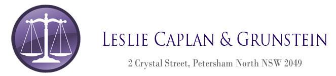 Leslie Caplan & Grunstein Logo